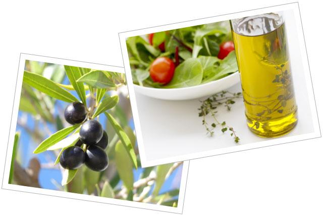 オメガ9脂肪酸のオレイン酸をたくさん含むオリーブオイル