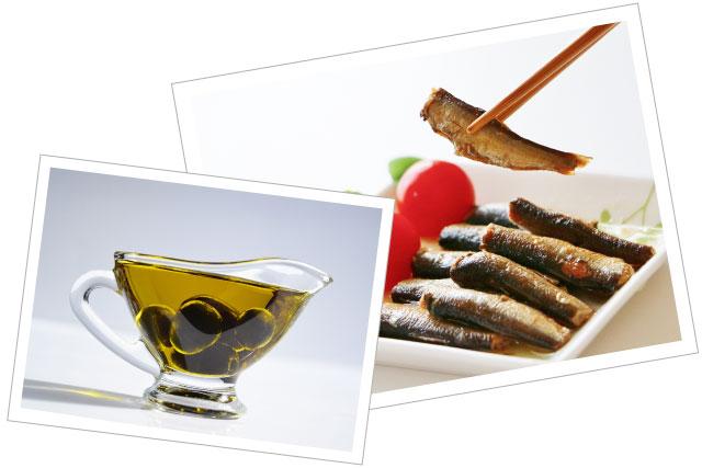 お肌と体に良い油ランキング 鰯のオリーブオイル漬け