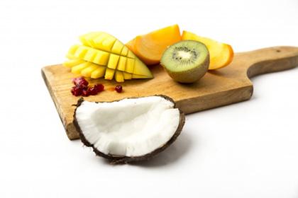 ココナッツとフルーツ